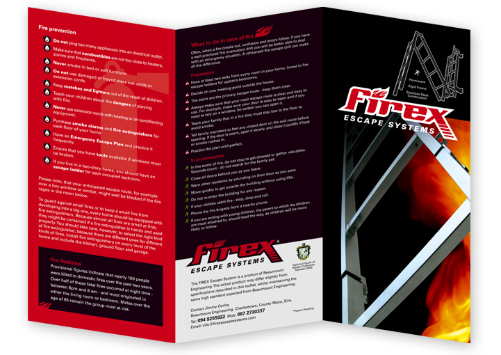 Firex brochure design outside